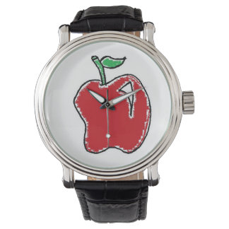 Hand-drawn Apple Cartoon Watch