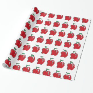 Hand-drawn Apple Cartoon Wrapping Paper