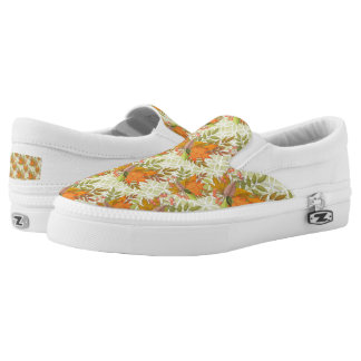 Hand Drawn Autumn Leaves Slip-On Shoes
