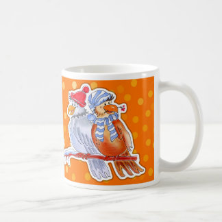 Hand-Drawn Birds - orange mug