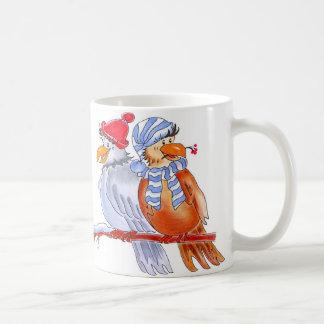 Hand-Drawn Birds - rooks Classic White Coffee Mug