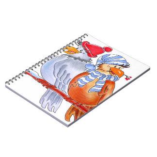 Hand-Drawn Birds - Rooks Spiral Note Book