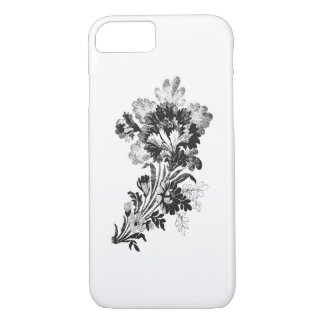Hand drawn bouquet of flowers realistic iPhone 7 case