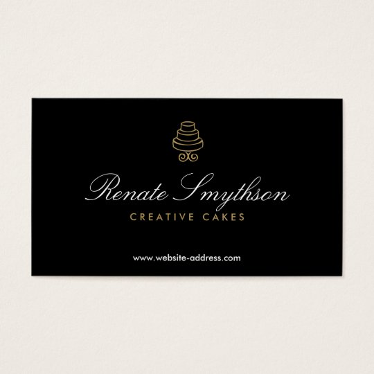 HAND-DRAWN CAKE LOGO IN GOLD II FOR BAKERY