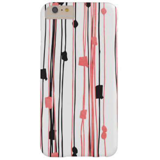 Hand drawn coral black watercolor abstract pattern barely there iPhone 6 plus case