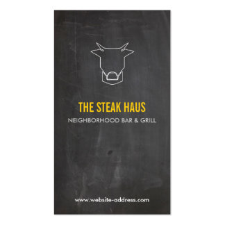 HAND-DRAWN COW LOGO for Restaurants, Chefs, Pubs Double-Sided Standard Business Cards (Pack Of 100)