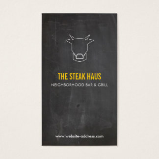 HAND-DRAWN COW LOGO for Restaurants, Chefs, Pubs Business Card