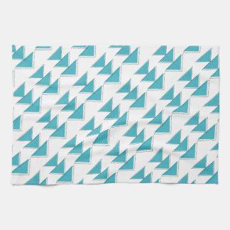 Hand Drawn Crossed Arrow Pattern Tea Towel
