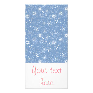 Hand - drawn doodle seamless pattern customised photo card