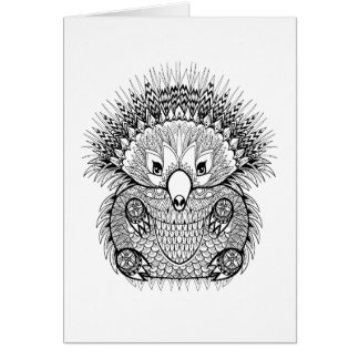 Hand Drawn Echidna Doodle Card