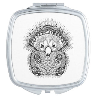 Hand Drawn Echidna Doodle Mirrors For Makeup
