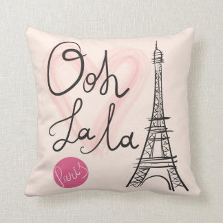 Hand Drawn Eiffel Tower Cushion