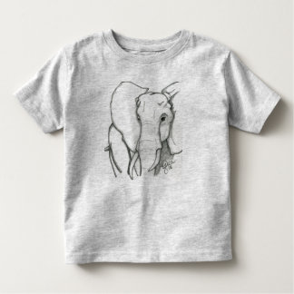 Hand drawn elephant toddler T-Shirt