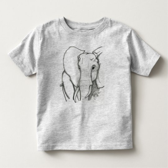 Hand drawn elephant toddler T-Shirt