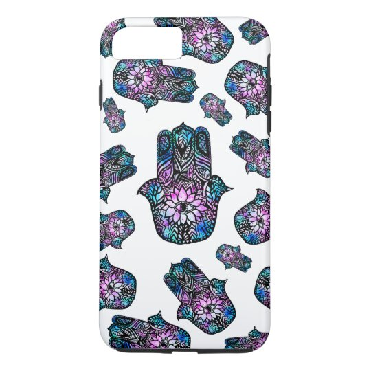 hand drawn floral watercolor Hamsa hand of Fatima iPhone 8 Plus/7 Plus Case