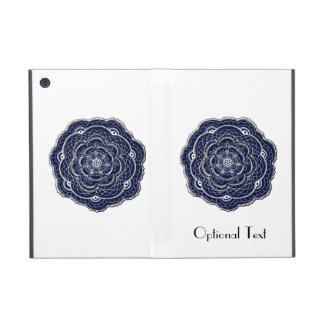 Hand Drawn Flower Doily Design iPad Mini Cases