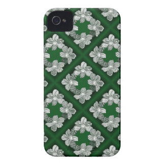 Hand Drawn Flower Lei Choose Any Color iPhone 4 Case-Mate Cases