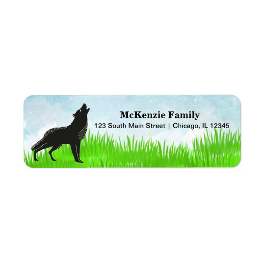 Hand drawn fox return address label