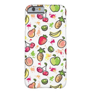 hand drawn fruits pattern barely there iPhone 6 case