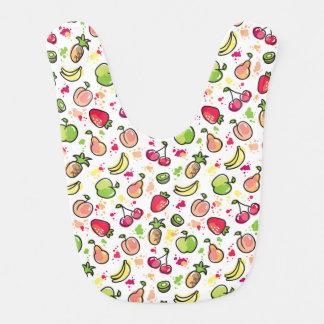 hand drawn fruits pattern bib