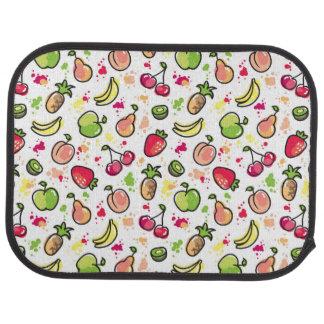 hand drawn fruits pattern car mat