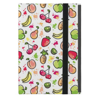 hand drawn fruits pattern covers for iPad mini
