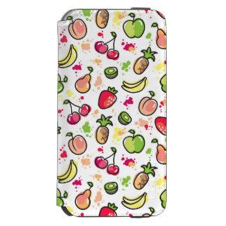 hand drawn fruits pattern incipio watson™ iPhone 6 wallet case