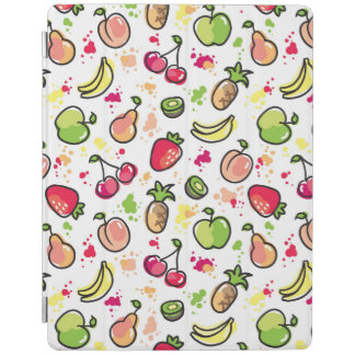 hand drawn fruits pattern iPad cover