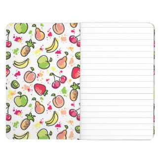 hand drawn fruits pattern journal