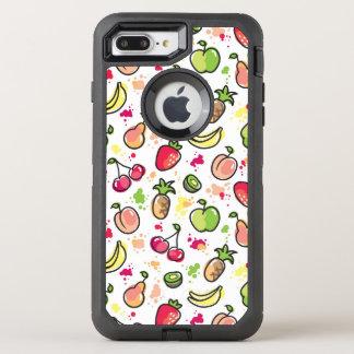 hand drawn fruits pattern OtterBox defender iPhone 8 plus/7 plus case
