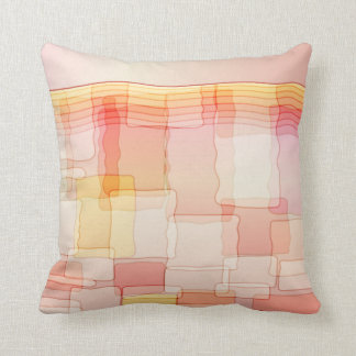 Hand Drawn Geometric Abstract American MoJo Pill Throw Pillows