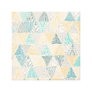 Hand Drawn Geometric Pattern Design Yellow Print