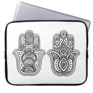Hand Drawn Hamsa With Ornaments Laptop Sleeve
