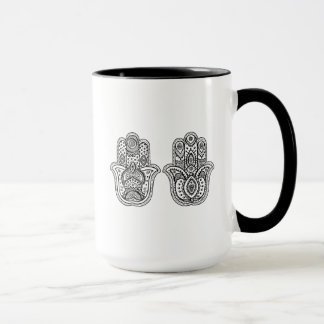 Hand Drawn Hamsa With Ornaments Mug