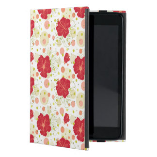 Hand Drawn Hibiscus Pattern Cover For iPad Mini