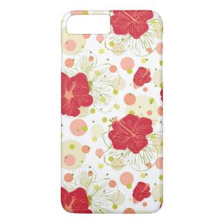 Hand Drawn Hibiscus Pattern iPhone 8 Plus/7 Plus Case