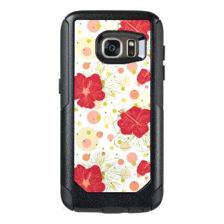 Hand Drawn Hibiscus Pattern OtterBox Samsung Galaxy S7 Case