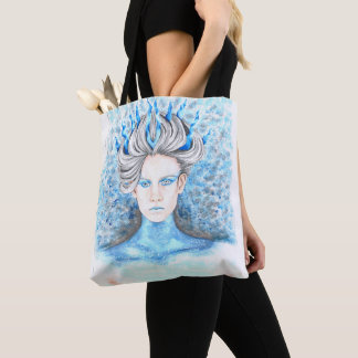Hand Drawn Ice Queen Tote Bag