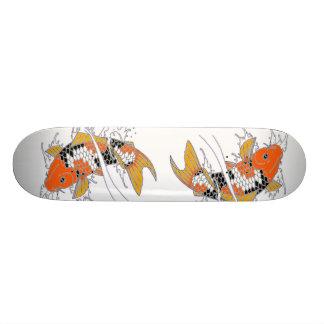 Hand Drawn Koi Skateboard Deck