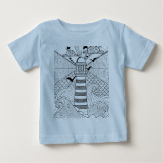 Hand Drawn Lighthouse Doodle Baby T-Shirt