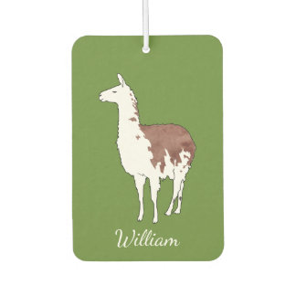 Hand Drawn Llama U-Pick Background Color Car Air Freshener