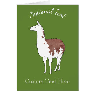 Hand Drawn Llama U-Pick Background Color Card