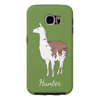 Hand Drawn Llama U-Pick Background Color Samsung Galaxy S6 Cases