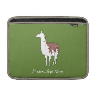 Hand Drawn Llama U-Pick Background Color Sleeve For MacBook Air