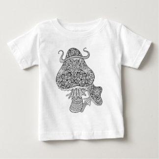 Hand Drawn Magic Mushrooms Doodle Baby T-Shirt