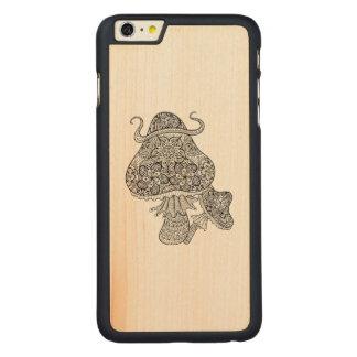 Hand Drawn Magic Mushrooms Doodle Carved® Maple iPhone 6 Plus Case