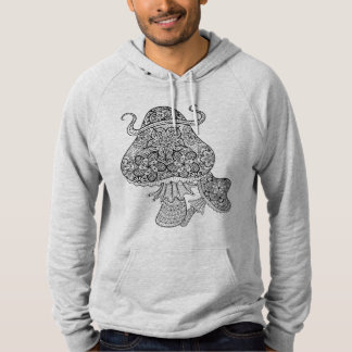 Hand Drawn Magic Mushrooms Doodle Hoodie