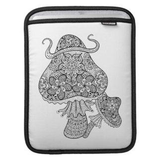 Hand Drawn Magic Mushrooms Doodle iPad Sleeve