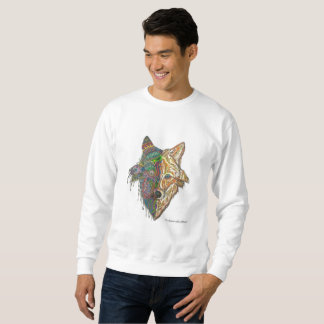 Hand-drawn Original Wolf Mandala Sweatshirt