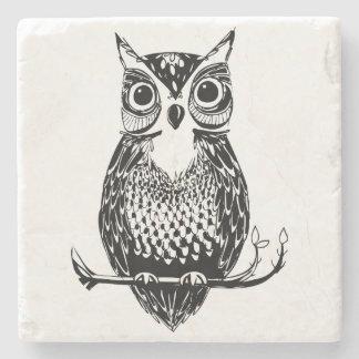 Hand Drawn Owl Coaster Stone Coaster
